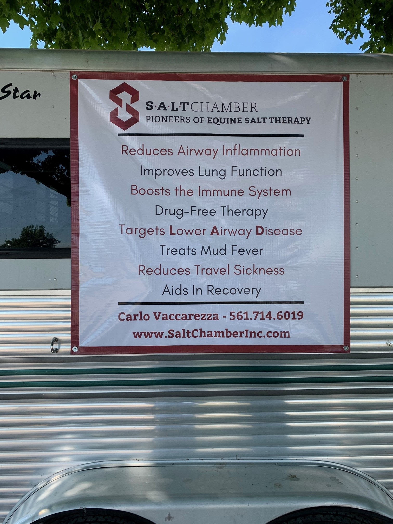 Carlo Equine Salt Therapy Trailer Picture 1 072020 Equine